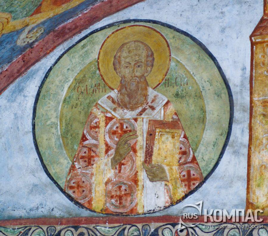 Роспись надвратной церкви Иоанна Лествичника