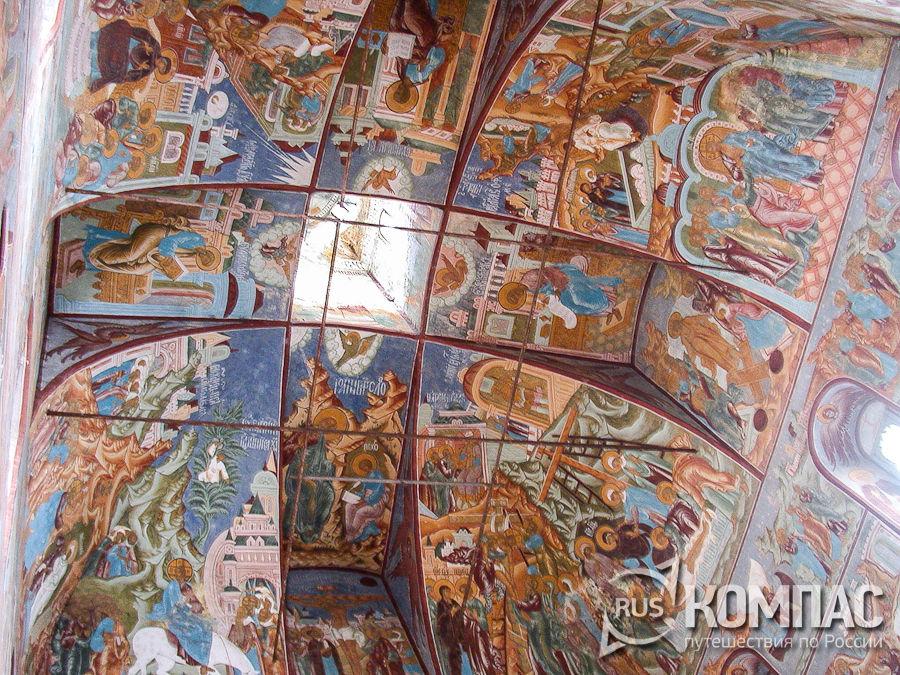 Роспись свода церкви Спаса на сенях