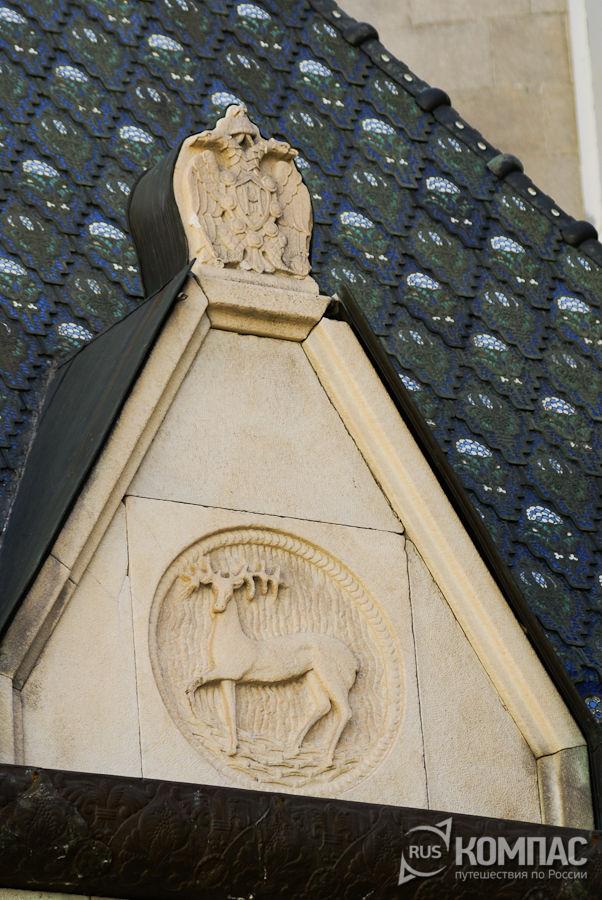 Деталь фасада главное здания государственного банка