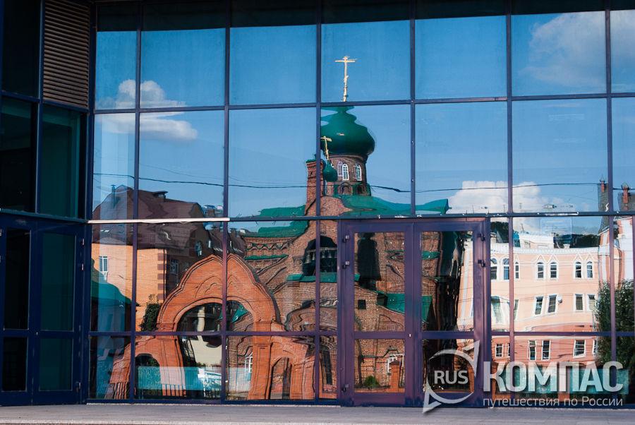 Отражение церковь Иконы Божией Матери Казанской