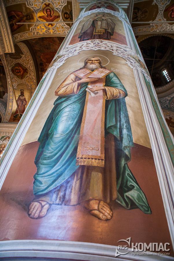 Роспись колонны Благовещенского собора