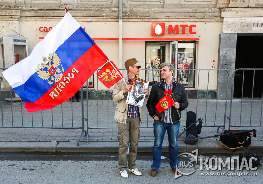 Сбор «Бессмертного полка» у Белорусского вокзала