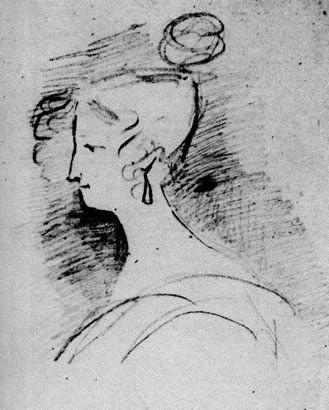 Елизавета Воронцова, рисунок Пушкина