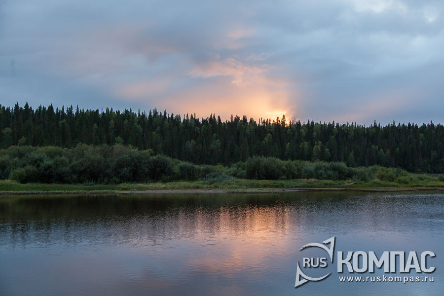 Закат над рекой Илыч