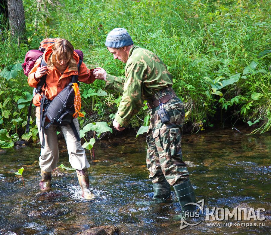 Переправа через лесные речки