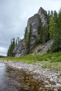 Скала Изпыред на реке Илыч