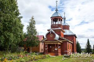 Церковь в поселке Троицко-Печорск