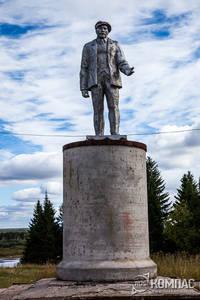 Памятник Ленину в поселке Троицко-Печорске