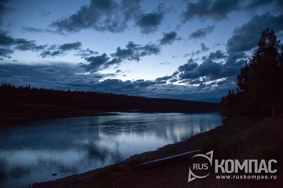 Ночное небо над рекой Илыч
