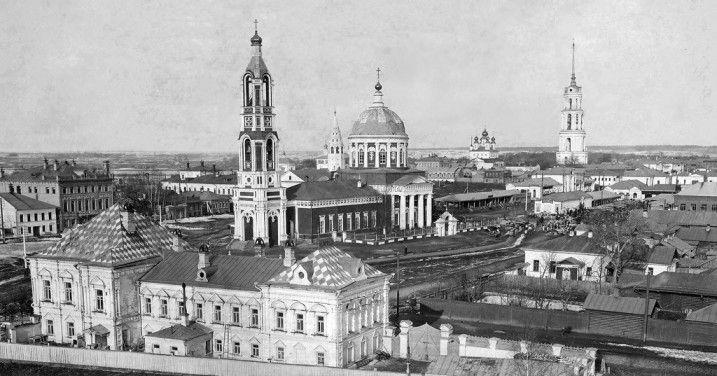 Центральная часть города Шуи в конце XIX века