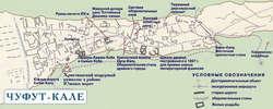План крепости Чуфут-Кале
