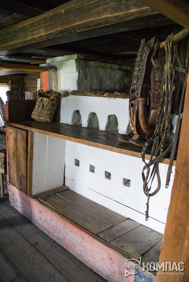 Интерьер дома зажиточного крестьянства Заонежья
