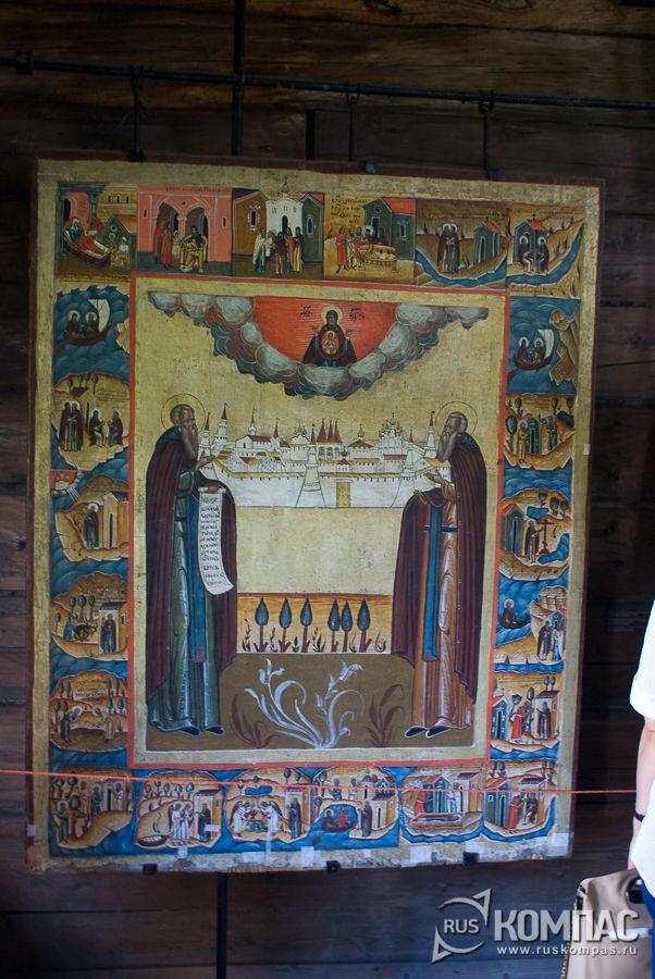 Икона «Зосима и Савватий в житии»