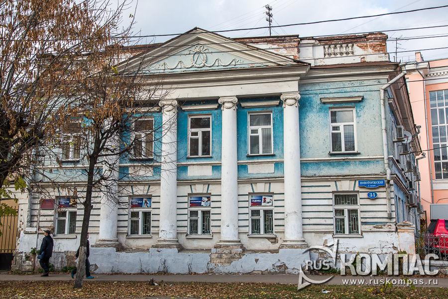 Жилой дом архитектора В.П. Львова, XIX век