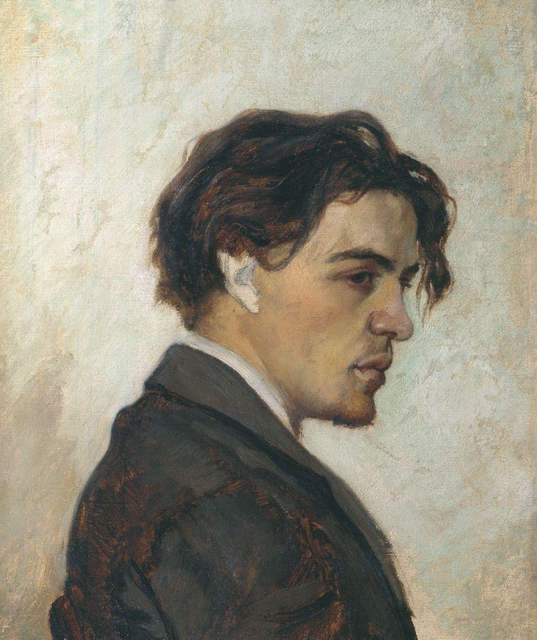Портрет Антона Чехова, выполненный в 1884 году Николаем Чеховым