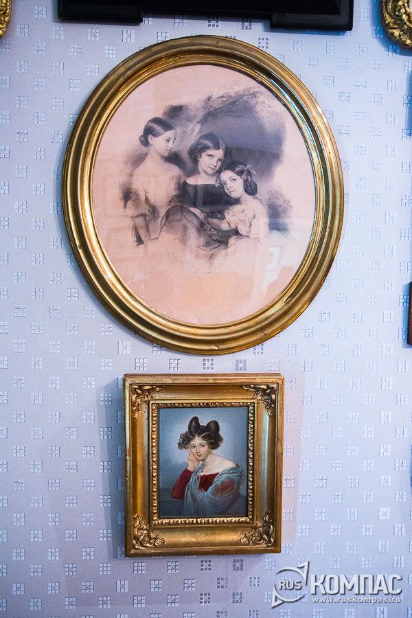 Портреты дочерей и первой жены Фёдора Тютчева