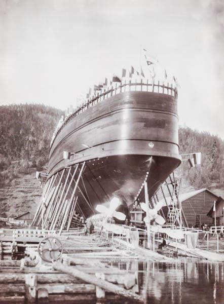 Спуск ледокола «Байкал» на воду 17 июня 1899 года