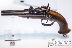 Пистолет двухствольный казнозарядный, Тула ф-ка Гольтякова, 1880-е годы