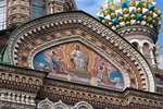 Мозаичная икона «Христос во Славе» в восточной части храма по эскизам художника Н.А. Кошелева