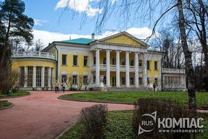Ленинские Горки: главный дом усадьбы и парк
