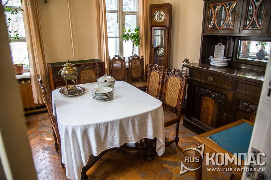 Столовая в музее «Кабинет и квартира В.И. Ленина в Кремле»