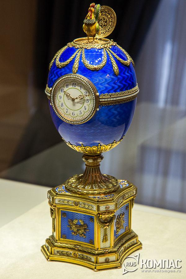 Яйцо-часы «Шантеклер» - последнее из семи пасхальных яиц, выполненных для Варвары Петровны Кельх (Базановой) фирмой К. Фаберже, 1904 год