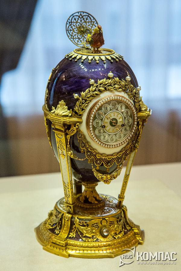 Барочкое яйцо-часы «Петушок», сделанное для вдовствующей императрицы Марии Федоровны, 1900 год