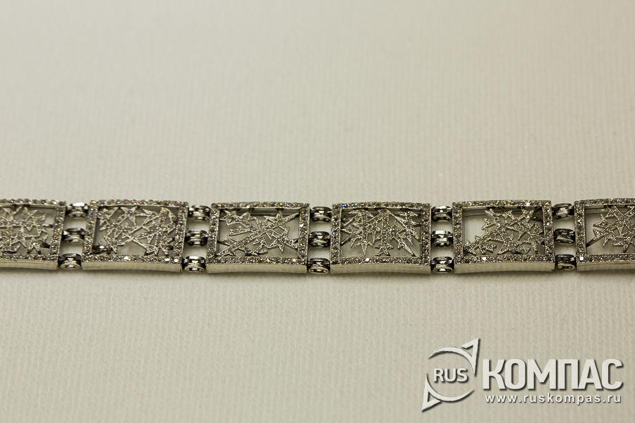 Звенья колье-браслета из серии «Морозные узоры» для семьи Нобелей, фирма К. Фаберже