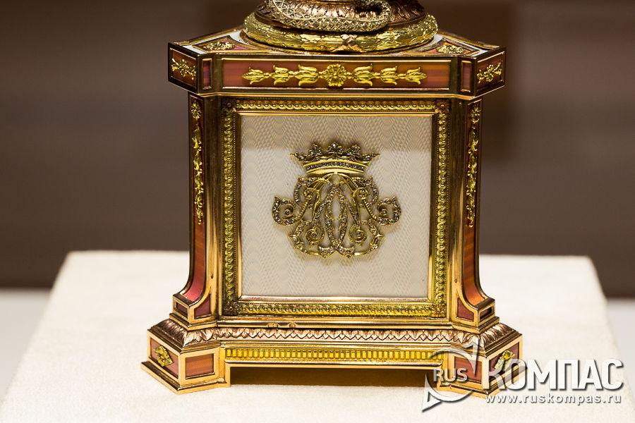 Основания часов герцогини Мальборо фирмы К. Фаберже, мастер М. Перхин, 1902 год