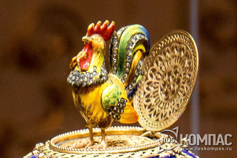 Петушок из пасхального яйца «Шантеклер»,  изготовленное для Варвары Петровны Кельх (Базановой) фирмой К. Фаберже, 1904 год