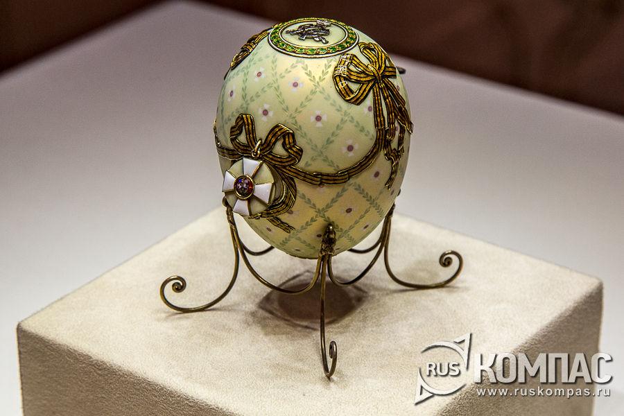 Георгиевский орден на пасхальном яйце «Орден Святого Георгия» фирмы К. Фаберже, 1916 год