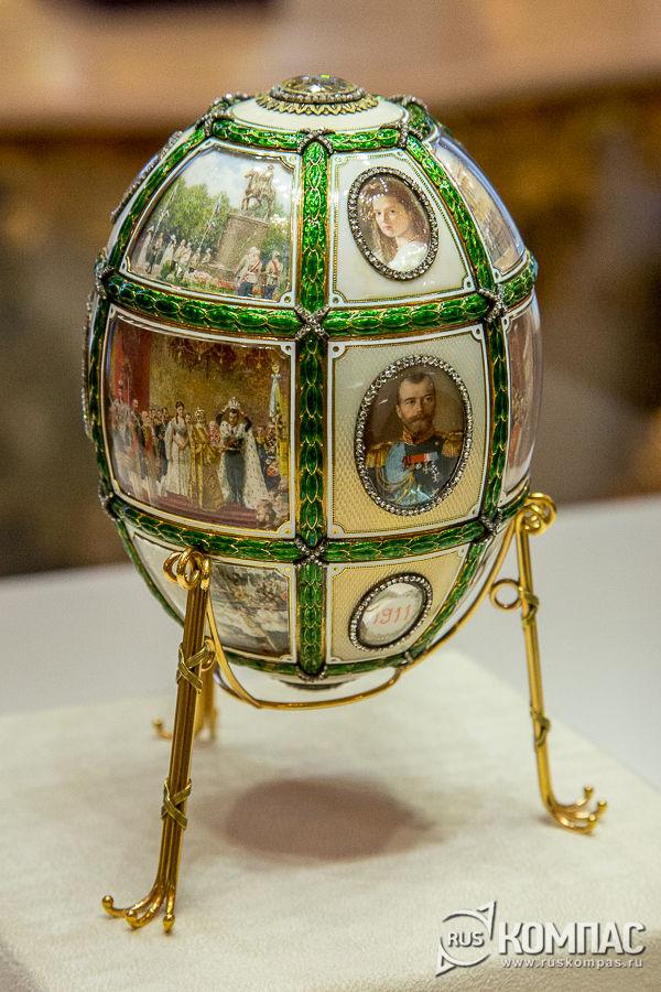 Пасхальное яйцо «Пятнадцатилетие царствования» фирмы К. Фаберже, 1911 год