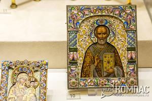 Икона «Николай Чудотворец», фирма К. Фаберже, мастер Ф. Рюкерт, Москва, 1899-1908 годы