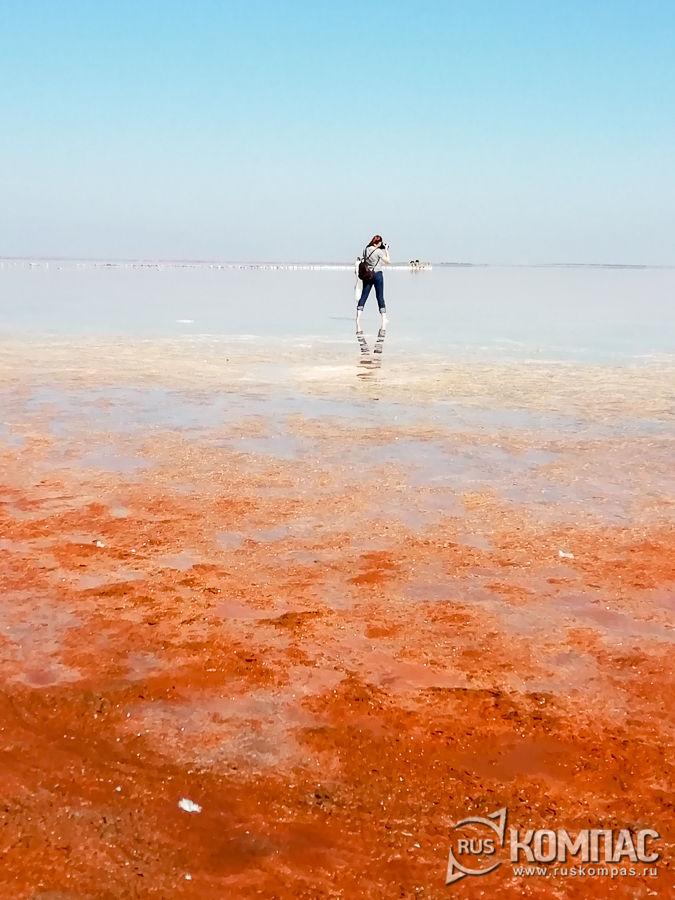 Оранжевый берег озера Сасык