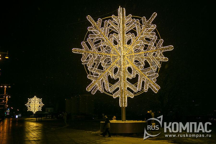 Снежинки на Воробьёвых горах