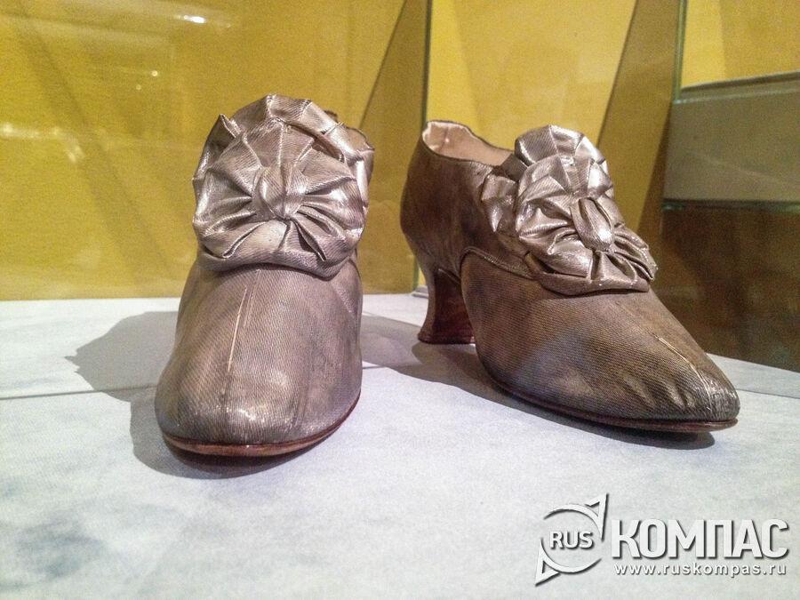 Туфли императрицы Марии Федоровны петербургской фирмы H.Inte