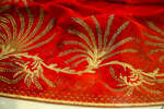Золотое шитье «хвоста» парадного придворного платья фрейлины царицы