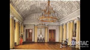Изображение придворного арапа на картине К. А. Ухтомского «Арапский зал (или Большая столовая)» , Санкт-Петербург, 1860-е.