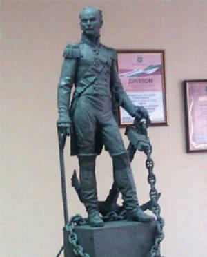 В Боровске открыли памятник адмиралу Дмитрию Сенявину
