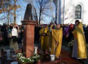 В Сортавала освятили памятник Патриарху Алексию II