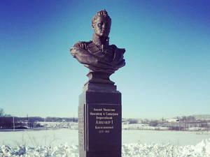 В Липецкой области открыли памятник императору Александру I