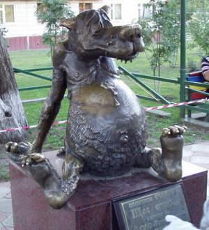 В Белове появился памятник волку из мультфильма «Жил-был пёс»