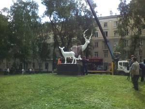 В Новокузнецке восстановили легендарный памятник Олени