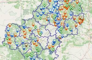 В Сети появилась карта калужских природных памятников