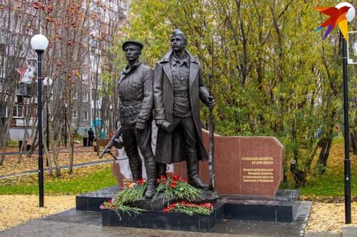 В Мурманске открыли памятник воинам Полярной дивизии