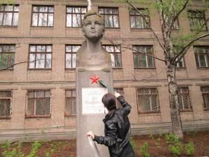 Самарские коммунисты отреставрировали памятник Зои Космодемьянской